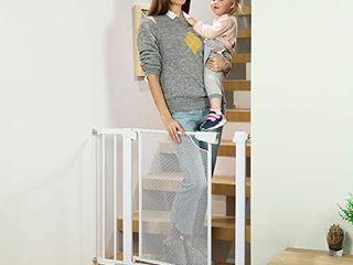 Heele Auto Close Safety Baby Gate  29 5 35  Easy Walk Thru Metal Mesh Child Gates
