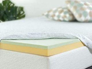 Zinus 4 Inch Green Tea Memory Foam Mattress Topper  Full