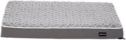 AmazonBasics Ergonomic Foam Pet Dog Bed   28 x 17 Inches  Brown