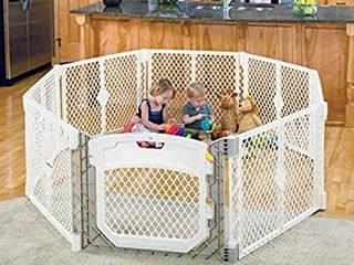 States 3 in1 Metal Superyard 198 long Extra Wide Gates Safety Barrier Play Space