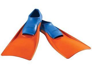 FINIS long Floating Fin Jr  in Blue Orange  Size 11 1