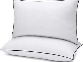 Bed Pillows for Sleeping 2 Pack Queen Sizei1 420  x 30 i1 4 White  Gel Pillow with Soft Premium Plush Fiber Fill Skin Friendly