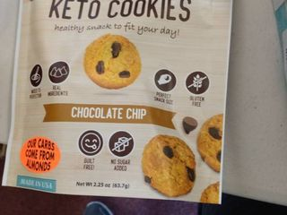 Proudly Pure Mini Bite Size 2 25 oz Keto Chocolate Chip Cookies On The Go Snacks   3 packs