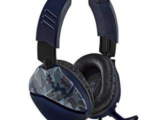 RECON 70 Gaming Headset  Blue Camo  Turtle Beach  Multiple Platform  731855065554   box rough