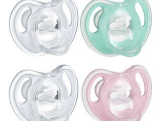 Tommee Tippee Ultra light 4pk Silicone Baby Pacifier 0 6 Months   Pink Green