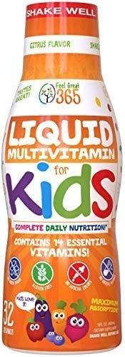 Childrenas liquid Multivitamin By Feel Great 365  60 Day Supply    Daily Va