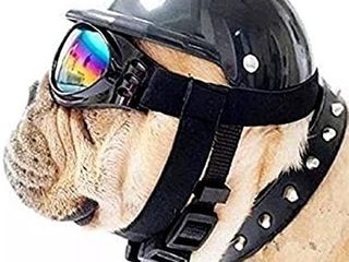 ShopTrend Dog Hat with Goggles  Riding Bike Cap