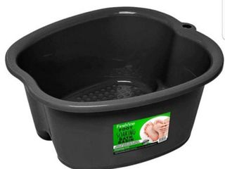 large Foot Bath Basin   For Soaking Tired Feet  Massaging Aching Ankles  Home or Spa Pedicure   Best Thick Sturdy Plastic Tub