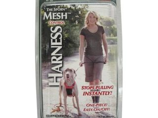 Sporn Nylon Non Pulling Dog Harness  Medium  Black