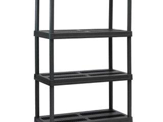 Sandusky lee PS361856 4B Plastic Shelving  36  Width x 56  Height x 18  Depth  Black