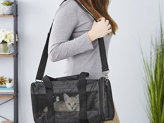 Frisco Premium Travel Dog   Cat Carrier Bag  Black  Small