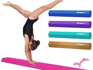 Springee 6ft Balance Beam   Extra Firm   Vinyl Folding Gymnastics Beam for Home