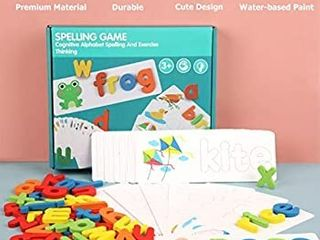Matching letter Game  letter Spelling and Writing Toys for Preschool Kindergarten Alphabets letters Sight Word Matching Games for Kids Spelling Puzzle Flashcard learning Game for Age 3  Years Old