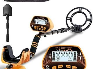 Metal Detector   SUNPOW High Accuracy Metal Detector for Adults   Kids  lCD Display with Adjustable light  Pinpoint Function   DISC Mode  10 Inch Waterproof Search Coil  Multiple Audio Prompts