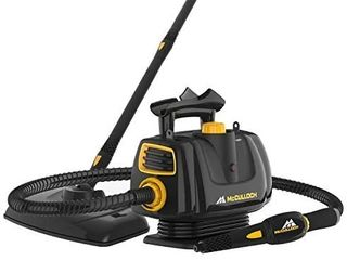 McCulloch MC1270 Portable Power Cleaner with Floor Mop  Variable Steaming  16 Piece Accessory Set  All Natural Chemical Free Cleaning  Black