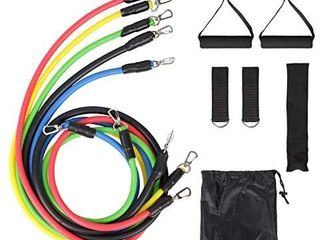 PAMASE 5 0 out of 5 stars 3Reviews PAMASE Portable Multifunction Resistance Band Set  5 Stackable Exercise Bands 2 Handles 2 Ankle Straps with Door Anchor and Drawstring Storage Bag for Resistance Training Home Workouts