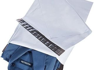 Metronic 100pack 10x13 Inch White Poly Mailers Shipping Mailing Envelopes Bags 2 Mil Thick Packing