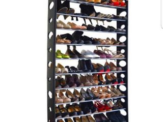 Studio 707   50 Pair Shoe Rack Black 36x63