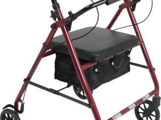 ProBasics 4 Wheel Rollator  6  Wheels  Burgundy  300 lb Weight Capacity