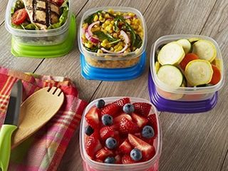 Fit   Fresh Stack Pack 1 Cup Container Set  Set of 4