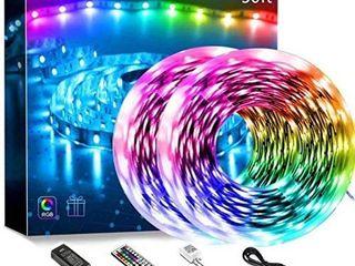 50ft led lights for Bedroom Color Changing led Strip lights  2 Rolls of 25ft Rope lights with 44 Keys Remote Controller