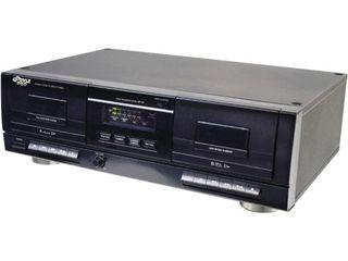 PYlE PT659DU   Dual Stereo Cassette Deck w Tape USB to MP3 Converter