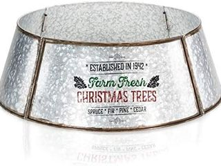 KIBAGA Farmhouse Christmas Tree Collar   Authentic Easy Set Up 30  Tree Ring Tree Skirt Decorates Your Home for The Holidays