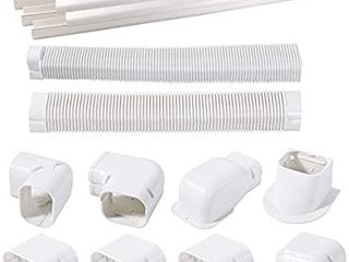 PVC Decorative line Cover Kit for Ductless Mini Split Air Conditioners  Central AC and Heat Pump Systems