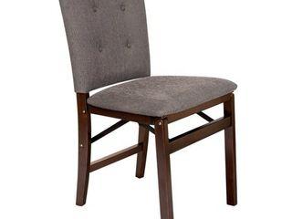 Set of 2 Parson s Folding Chair   Espresso Jax   Stakmore