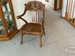 Ornate Wood Chair 0 jpg
