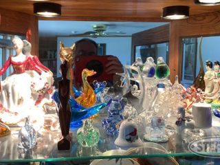 Shelf of Glass Figurine Statuettes Misc 0 jpg