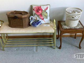 Bench Seat Ceramic Vase Pillow Wall Mirror 0 jpg