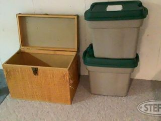 Wicker Chest 2 Plastic Totes with Glass 0 jpg