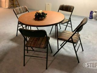Round Folding Table 4 Chairs 0 jpg