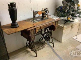 Antique Sewing Machine Chest 0 jpg