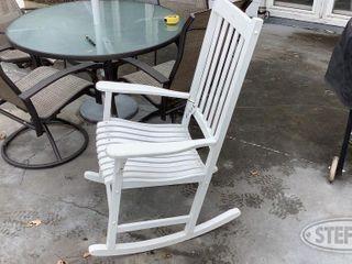Wooden Rocking Chair 0 jpg