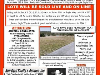 6 Residential Lots Sold Live & Oniine