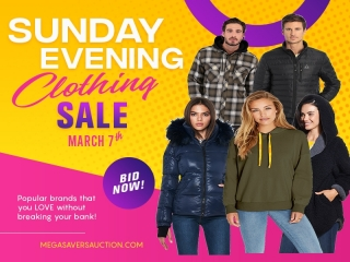 SUNDAY EVENING CLOTHING SALE MARCH 7TH