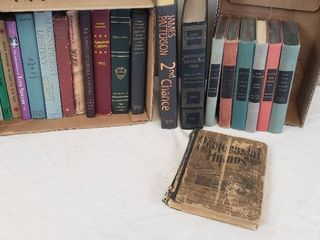 2 Boxes of Vintage Books  Novels and Reference