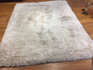 Broyhill luxury Shag Rug   7ft10in x 10ft    Ivory