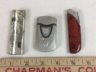 3 Vintage lighters   2 are Slimline