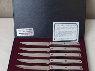 6pc Set   RADA Polished Stainless Steel Steak Knives  NIB