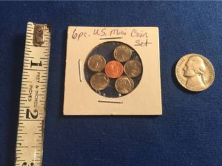 Miniature U S  Coin Replica Set   Includes Morgan Dollar  Walking liberty Half Dollar  Standing liberty Quarter  Mercury Dime  Buffalo Nickel    Indian Head Penny  1 1953 S Nickel