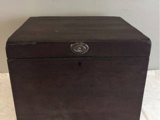 Rare Antique Wood Cellarette Cir  1780 1840  lock box to hold Wine and other valuables  No key  17inW x 16inD x 14inT