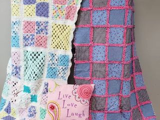 Baby Blankets  Quilt  30 x 48 in    Afghan  33 x 46 in  and 13 in  live  love    laugh Throw Pillow
