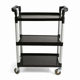 lightweight 3 Tier Rolling Utility Cart Varies Slightly From Stock Photo