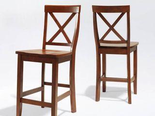 Crosley Furniture X Back Bar Stools Set of 2