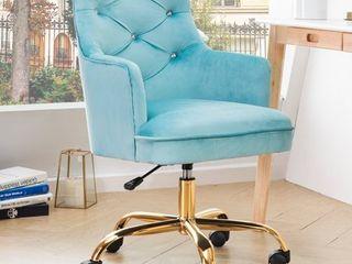 OVIOS Plush Velvet Desk Vanity Chair