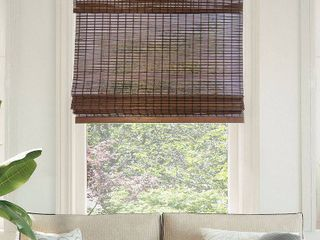 CHICOlOGY Cordless Bamboo light Filtering Roman Shades
