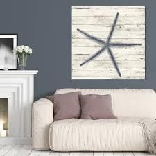 Oliver Gal Starfish Blue Nautical and Coastal Wall Art Canvas Print